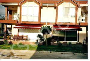villa bordo mafsallı tente, villa tente, çanakkale yazlık tentesi,